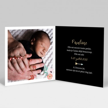 Faire-part de naissance attrape rêve avec photo