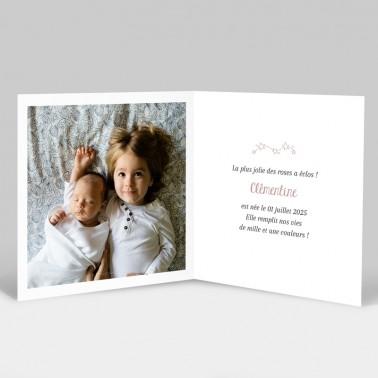 Faire-part de naissance Étoiles filantes avec photos