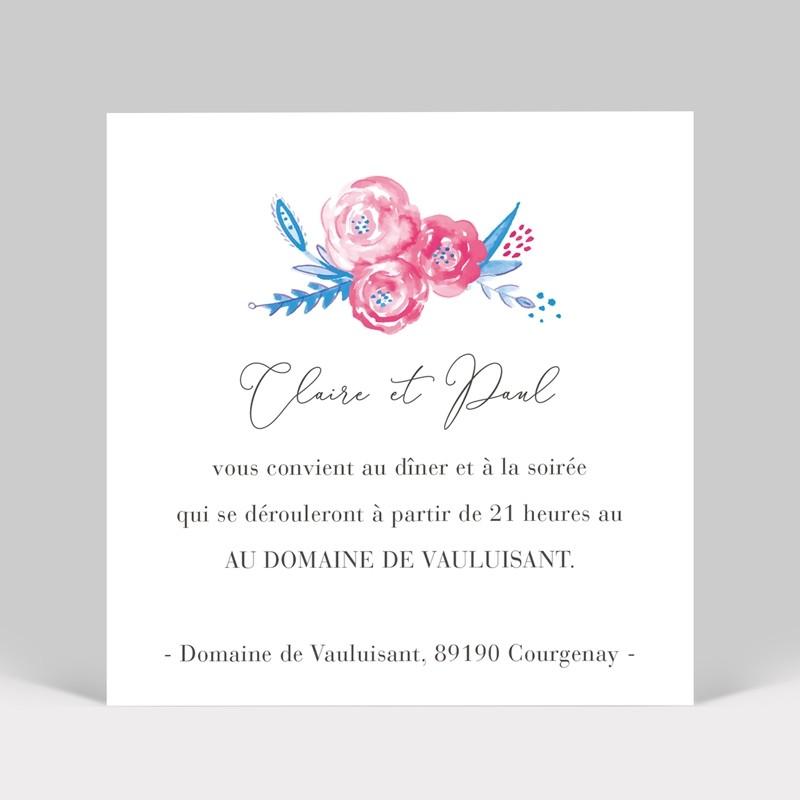 Carte invitation mariage Pivoine