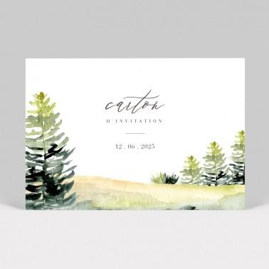 Carte d'invitation de mariage Forêt