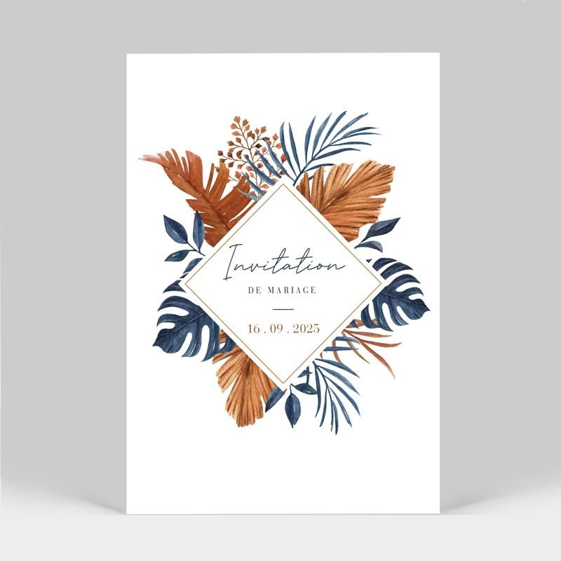 Carte invitation mariage tropical