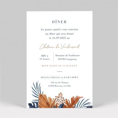 Carton invitation mariage tropical