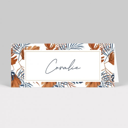 Marque-place mariage tropical