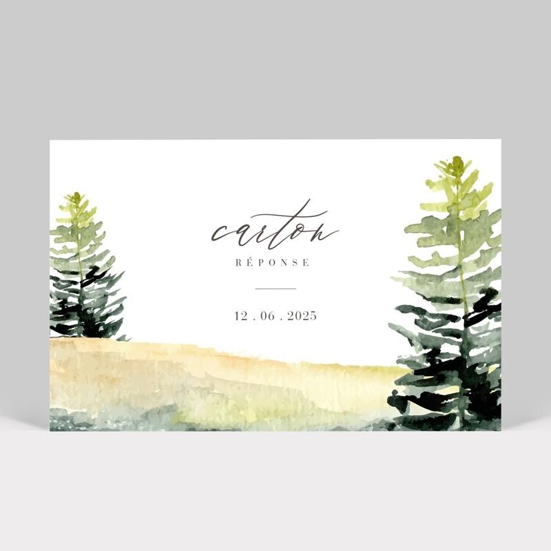Carton réponse mariage Forêt