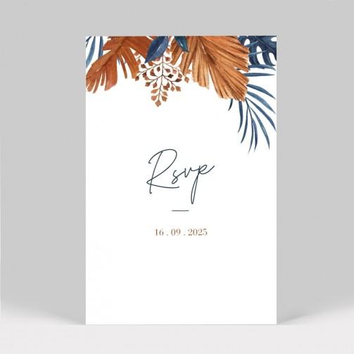 Carton réponse mariage tropical