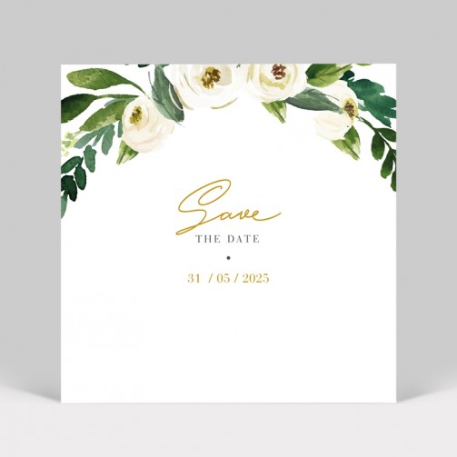 Save the date Pivoines blanches