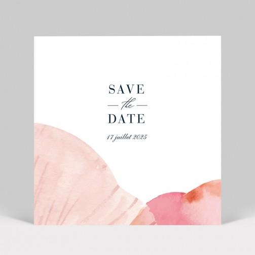 Save the date Pétales de fleurs