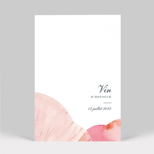 Carte d'invitation mariage Pétales de fleurs