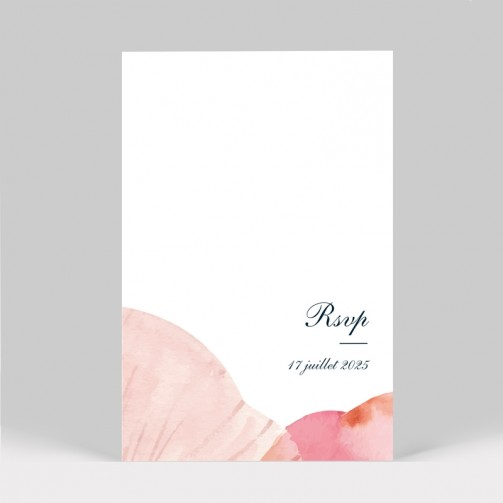 Carton réponse mariage Pétales de fleurs