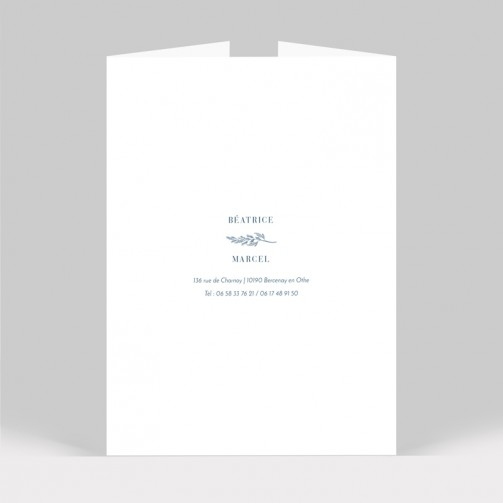 Faire-part mariage Initiales 6 pages
