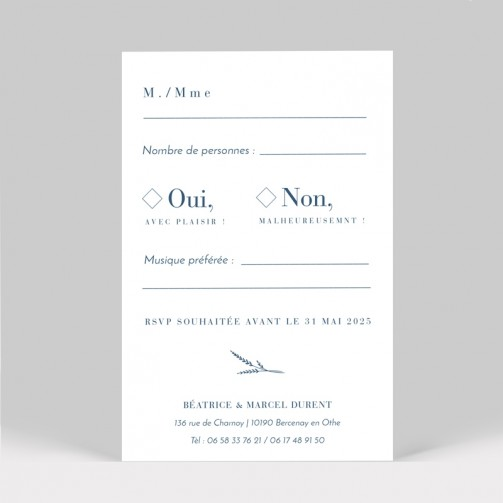RSVP mariage Initiales