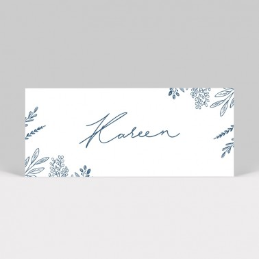 Marque-place mariage Initiales