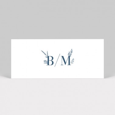 Marque-place mariage Initiales 2 pages