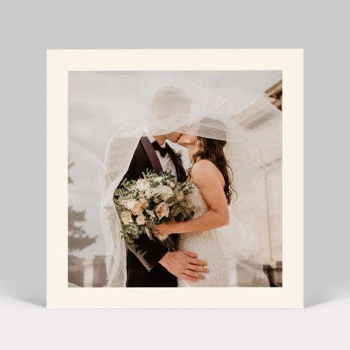 Carte remerciement mariage Fleurs Aquarelle photo