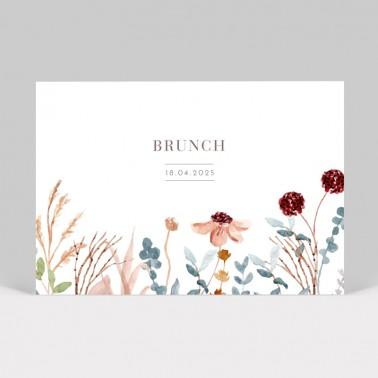 Carte invitation mariage Fleurs des Champs
