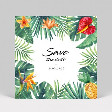 Save the date Fleurs Exotiques