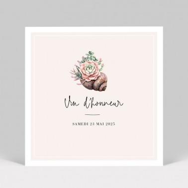 Carte d'invitation mariage Cactus