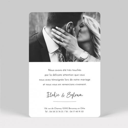 Carte remerciement mariage Cactus avec photo
