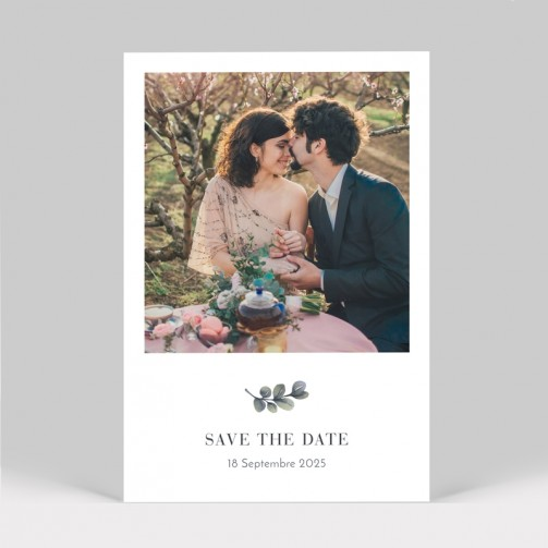 Save the date mariage eucalyptus