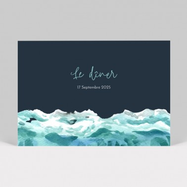 Carte d'invitation mariage Mer, Océan, fond marin