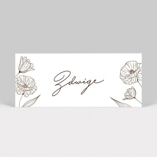 Marque-place mariage Coquelicot