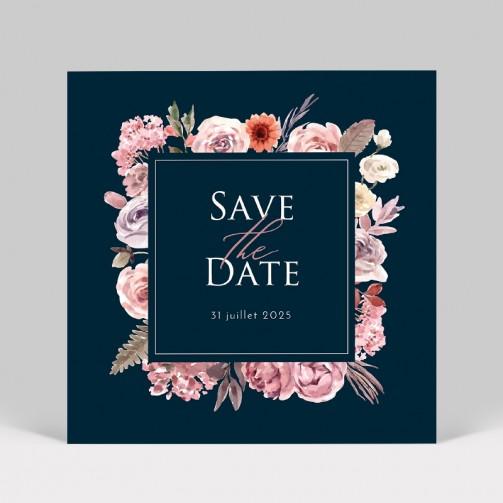 Save the date bouquet de fleurs