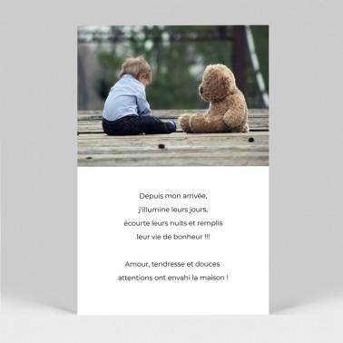 Faire part de naissance ours polaire
