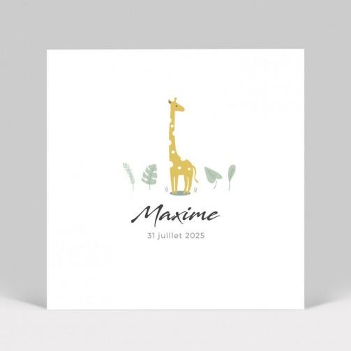 Faire-part de naissance Girafe