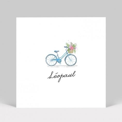 Faire-part de naissance Bicyclette