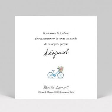 Faire-part de naissance vélo