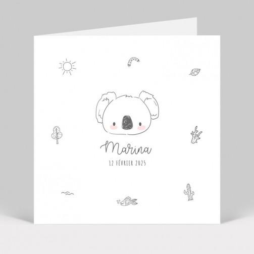 Faire-part naissance Koala