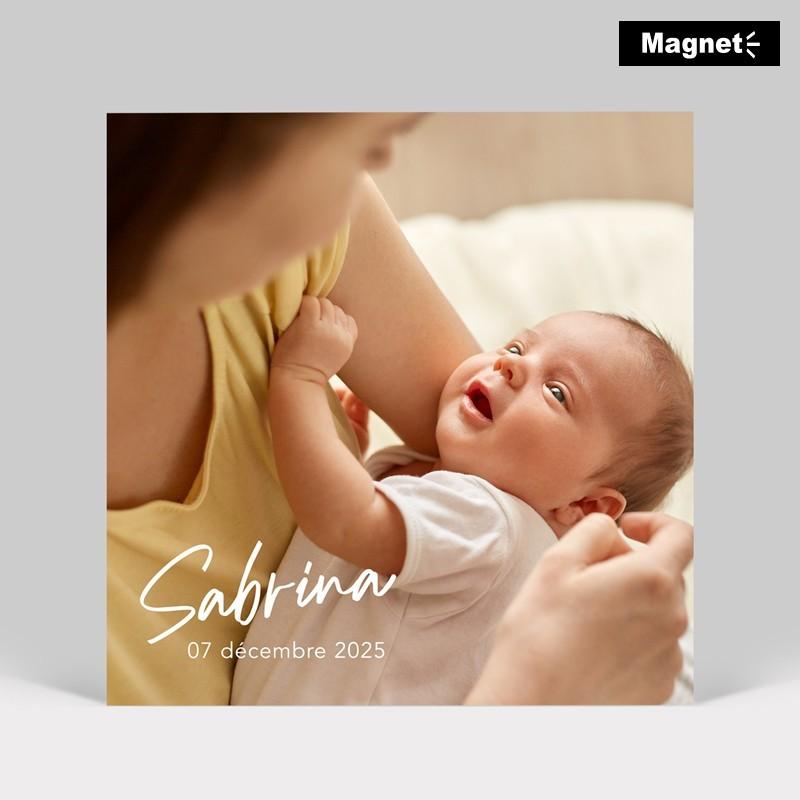 Faire-part naissance signature