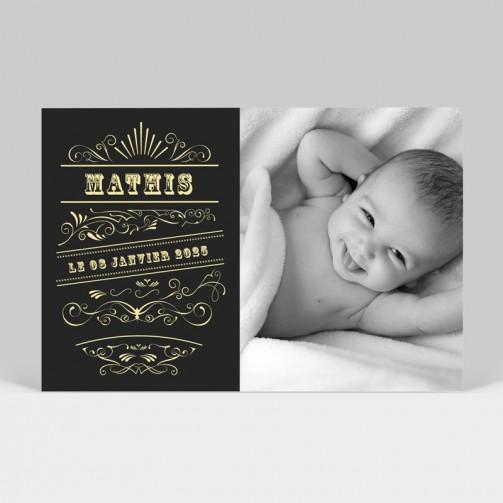 Faire-part naissance vintage
